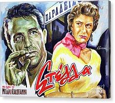 Melina Mercouri, Giorgos Foundas - Stella 1955- Mihalis Kakogiannis Acrylic Print by Spiros Soutsos