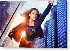 Melissa Benoist Supergirl Acrylic Print