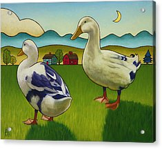 Melissas Ducks Acrylic Print