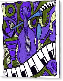 Melllow Jazz Acrylic Print