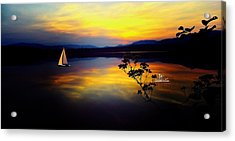 Mellow Moments In New England Acrylic Print
