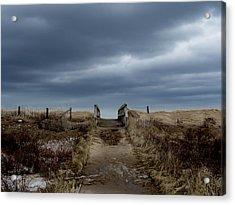 Acrylic Print featuring the photograph Melmerby Beach Boardwalk by Kathleen Sartoris