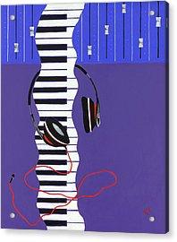 Melodic Flow Acrylic Print by Rishanna Finney