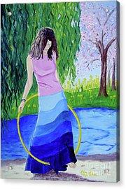 Melodys Hoop Acrylic Print