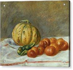 Melon And Tomates Acrylic Print
