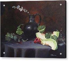 Melon And Vase Acrylic Print