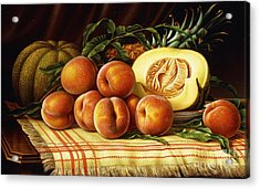 Melons, Peaches And Pineapple Acrylic Print