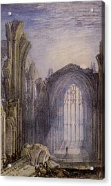 Melrose Abbey Acrylic Print by Joseph William Mallord Turner