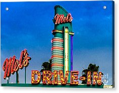 Mels Drive In Acrylic Print by Gary Keesler