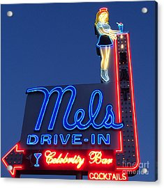 Mels Drive-in Acrylic Print by Nina Prommer