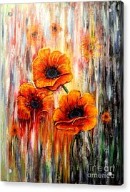 Melting Flowers Acrylic Print