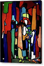 Melting Pot Abstract Acrylic Print by Shelly Wiseberg