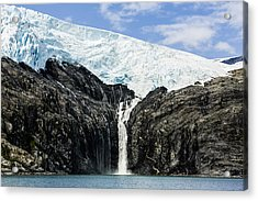 Meltwater From The Northland Glacier Acrylic Print by Ray Bulson