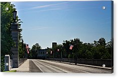 Memorial Avenue Bridge Roanoke Virginia Acrylic Print by Teresa Mucha