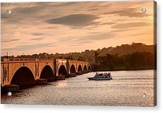 Memorial Bridge II Acrylic Print by Steven Ainsworth