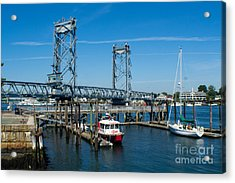 Memorial Bridge Portsmouth Acrylic Print by Kevin Fortier