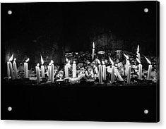 Memorial Candles II Acrylic Print by Yoel Koskas