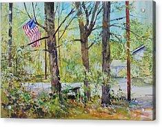 Memorial Day Flag Acrylic Print