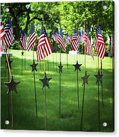 Memorial Day In America Acrylic Print