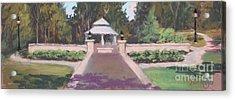 Memorial Garden Lakeside, Ohio Acrylic Print by Terri  Meyer