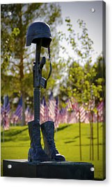 Memorial Acrylic Print by Mike Hill