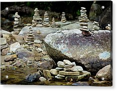 Memorial Stacked Stones Acrylic Print