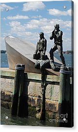 Memorial To Mariners Acrylic Print by Tony Mills