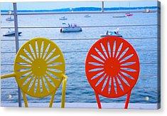 Memorial Union Terrace Chairs Acrylic Print by Art Spectrum