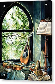 Memories And Music Acrylic Print by Hanne Lore Koehler