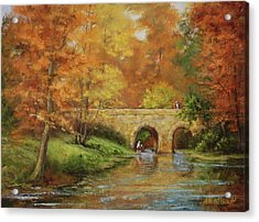 Memories At Stone Bridge Acrylic Print