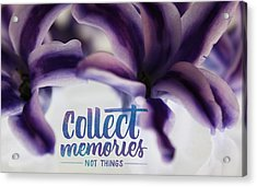 Acrylic Print featuring the photograph Memories by Bobby Villapando