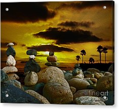 Memories In The Twilight Acrylic Print by Rhonda Strickland