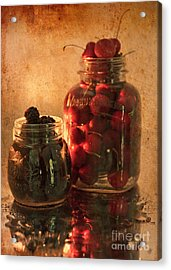 Memories Of Jams, Preserves And Jellies  Acrylic Print by Sherry Hallemeier