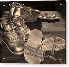 Memories Of Little Feet Acrylic Print