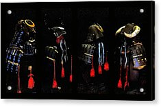 Memories Of Samurai Black Armour Collage Acrylic Print by Dorothy Berry-Lound