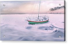 Acrylic Print featuring the photograph Memories Of Seasons Past - Prisoner Of Ice by John Poon