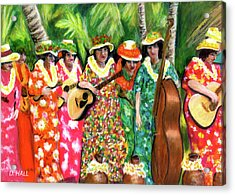 Memories Of The Kodak Hula Show At Kapiolani Park In Honolulu #20 Acrylic Print by Donald k Hall