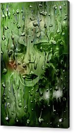 Acrylic Print featuring the digital art Memory In The Rain by Darren Cannell