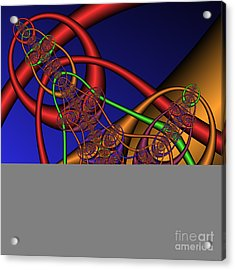 Memory Loops 137 Acrylic Print by Rolf Bertram