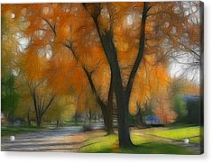 Memory Of An Autumn Day Acrylic Print by Lyle Hatch