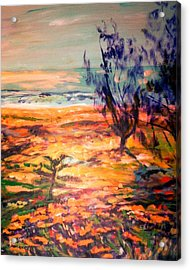 Acrylic Print featuring the painting Memory Pandanus by Winsome Gunning