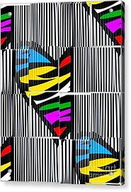 Memory Popart Heart By Nico Bielow  Acrylic Print