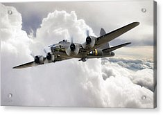 Memphis Belle Acrylic Print by Peter Chilelli