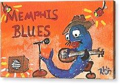 Memphis Blues Acrylic Print by Robert Wolverton Jr