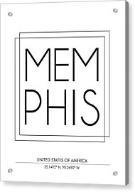 Memphis City Print With Coordinates Acrylic Print