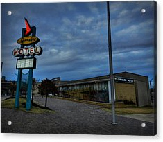 Memphis - Dark Clouds Over The Lorraine Motel Acrylic Print by Lance Vaughn