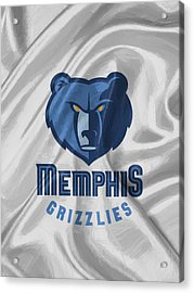 Memphis Grizzlies Acrylic Print by Afterdarkness