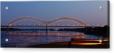 Memphis - I-40 Bridge Over The Mississippi 2 Acrylic Print