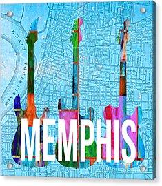 Memphis Music Scene Acrylic Print