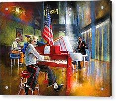 Memphis Nights 04 Acrylic Print by Miki De Goodaboom